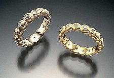 Gold Beaded Band by Eva Seid (Gold & Diamond Ring)