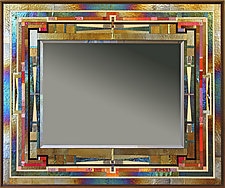 Red Line by Thomas Meyers (Art Glass Mirror)