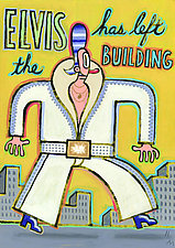 Elvis Has Left the Building by Hal Mayforth (Giclee Print)