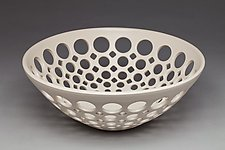 Pierced Fruit Bowl by Lynne Meade (Ceramic Bowl)