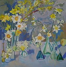Daffodils by Lila Bacon (Acrylic Painting)