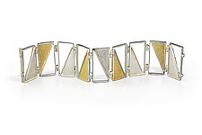Captured Triangle Bracelet by Nora Fischer (Gold & Silver Bracelet)