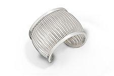 Corrugated Cuff by Nora Fischer (Silver Bracelet)