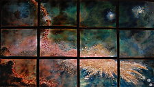 A New Star in Twelve Panels by Cynthia Miller (Art Glass Wall Sculpture)