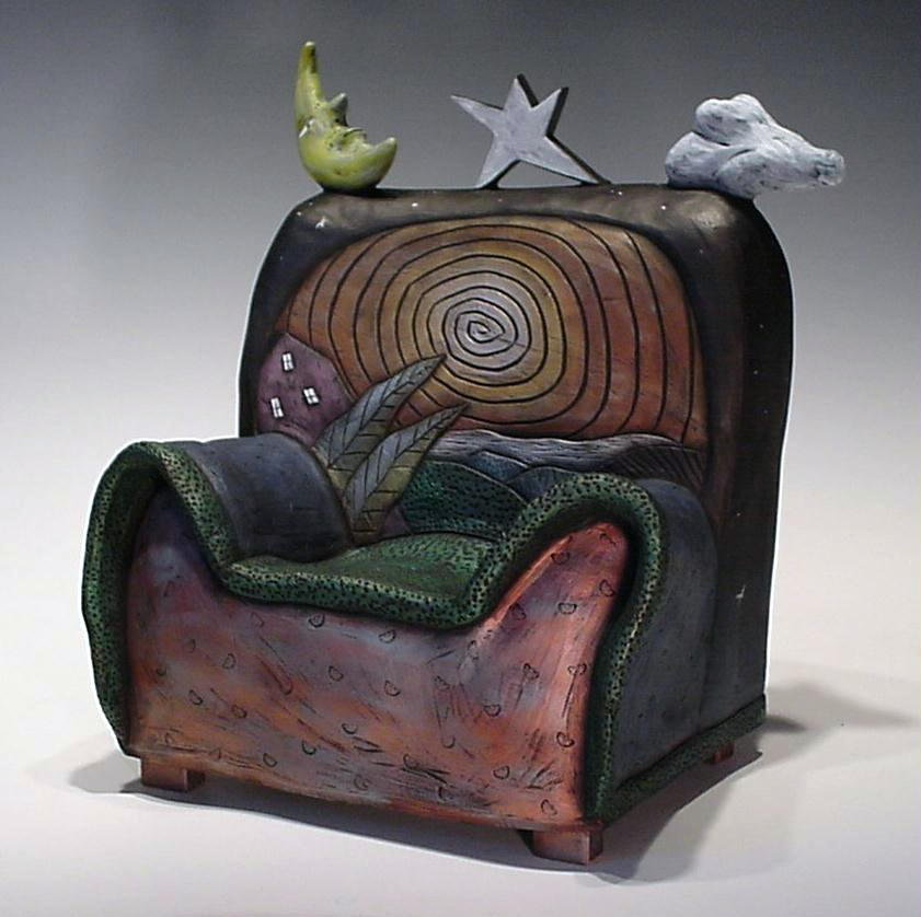 Dreaming Chair by David Stabley (Ceramic Sculpture ...