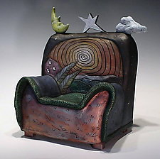 Dreaming Chair by David Stabley (Ceramic Sculpture)