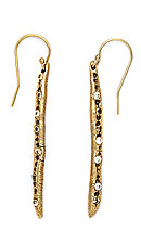 Icicle Earring by Julie Cohn (Bronze & Stone Earrings)