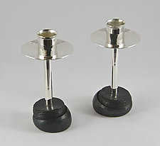 Tall Cap Screw Candlestick by Nicole and Harry Hansen (Silver Candleholders)