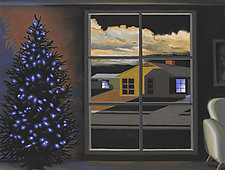 Blue Night in Junewood by R. Michael Wommack (Giclee Print)