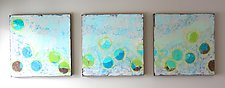 Circles of Life Trio by Leslie Saeta (Acrylic Painting)
