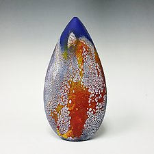 Lapis Elemental Seed by David Royce (Art Glass Vessel)