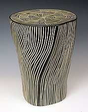 Web Top Table by Larry Halvorsen (Ceramic Side Table)