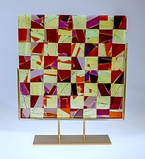 Autumn Leaves by Varda Avnisan (Art Glass Sculpture)