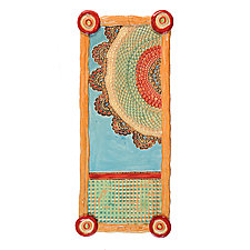 Esperanza's Rainbow Long Tray by Laurie Pollpeter Eskenazi (Ceramic Tray)