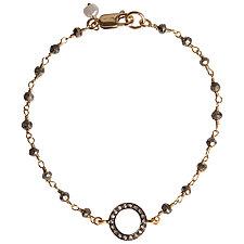 Natasha Single Strand Diamond & Pyrite Bracelet by Tracy Arrington (Beaded Bracelet)