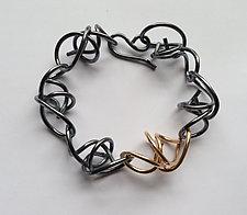 Random Link Bracelet by Rina S. Young (Gold & Silver Bracelet)