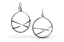 Air Earrings by Erica Stankwytch Bailey (Silver Earrings)