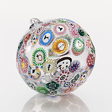 Murrini Sphere 2015 by Ralph Mossman and Mary Mullaney (Art Glass Ornament)