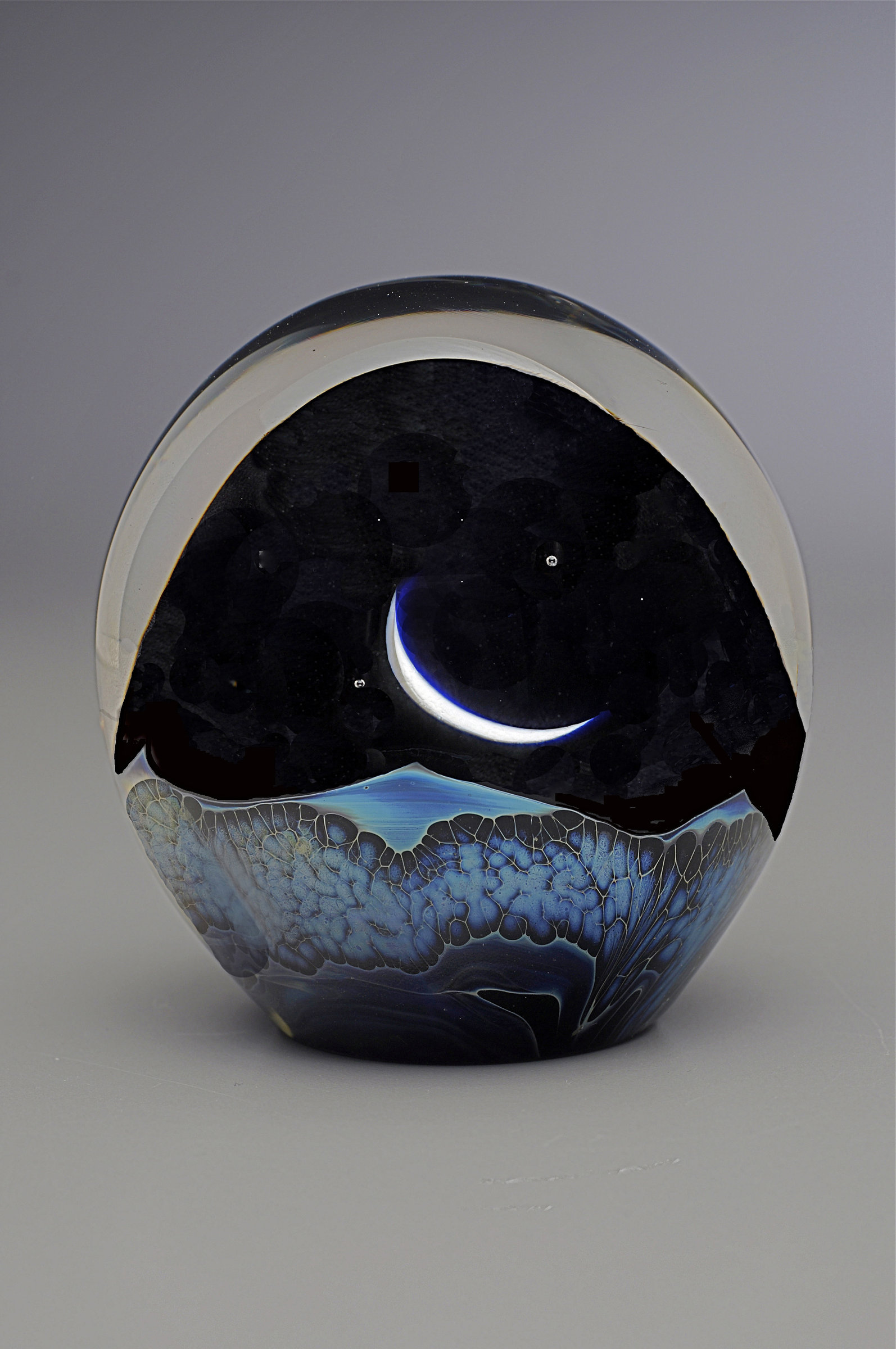 Artful Home Moonrise Paperweight By Robert Burch Art Glass Paperweight