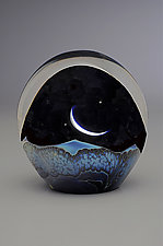 Moonrise Paperweight by Robert Burch (Art Glass Paperweight)