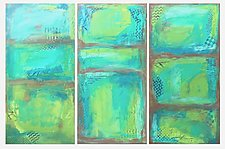 Seaside Trio by Leslie Saeta (Acrylic Painting)