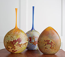 Elemental Series Vessels by David Royce (Art Glass Sculpture)