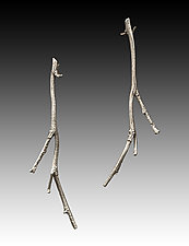 River Birch Twigs by Rone' Prinz (Silver Earrings)