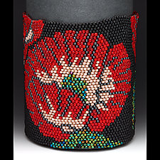 Beaded Cuff - Carmen by Julie Long Gallegos (Beaded Bracelet)