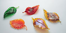 Fall Leaves Set by Drew Hine (Art Glass Sculpture)