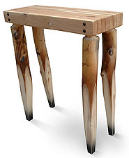 Aspen Leg Table by John Boak (Wood Console Table)