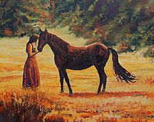 A Day in the Meadow by Ritch Gaiti (Oil Painting)
