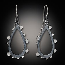 Disco Edge Drop by Dahlia Kanner (Silver Earrings)