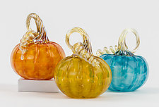 Pop Color Pumpkins by Corey Silverman (Art Glass Sculpture)