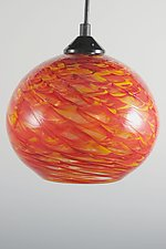 HX Clear Optic Globe Pendant by Mark Rosenbaum (Art Glass Pendant Lamp)