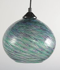 CX Clear Optic Globe Pendant by Mark Rosenbaum (Art Glass Pendant Lamp)