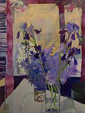 Iris, Spirea, Lilacs 2015 by Lila Bacon (Acrylic Painting)