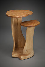 Pillars Side Table by Aaron Laux (Wood Side Table)