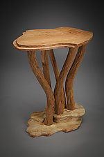 Squash Blossom Side Table by Aaron Laux (Wood Side Table)