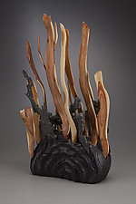 Seaweed Sculpture by Aaron Laux (Wood Sculpture)