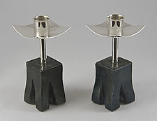 Chiseled with Tall by Nicole and Harry Hansen (Metal Candleholders)
