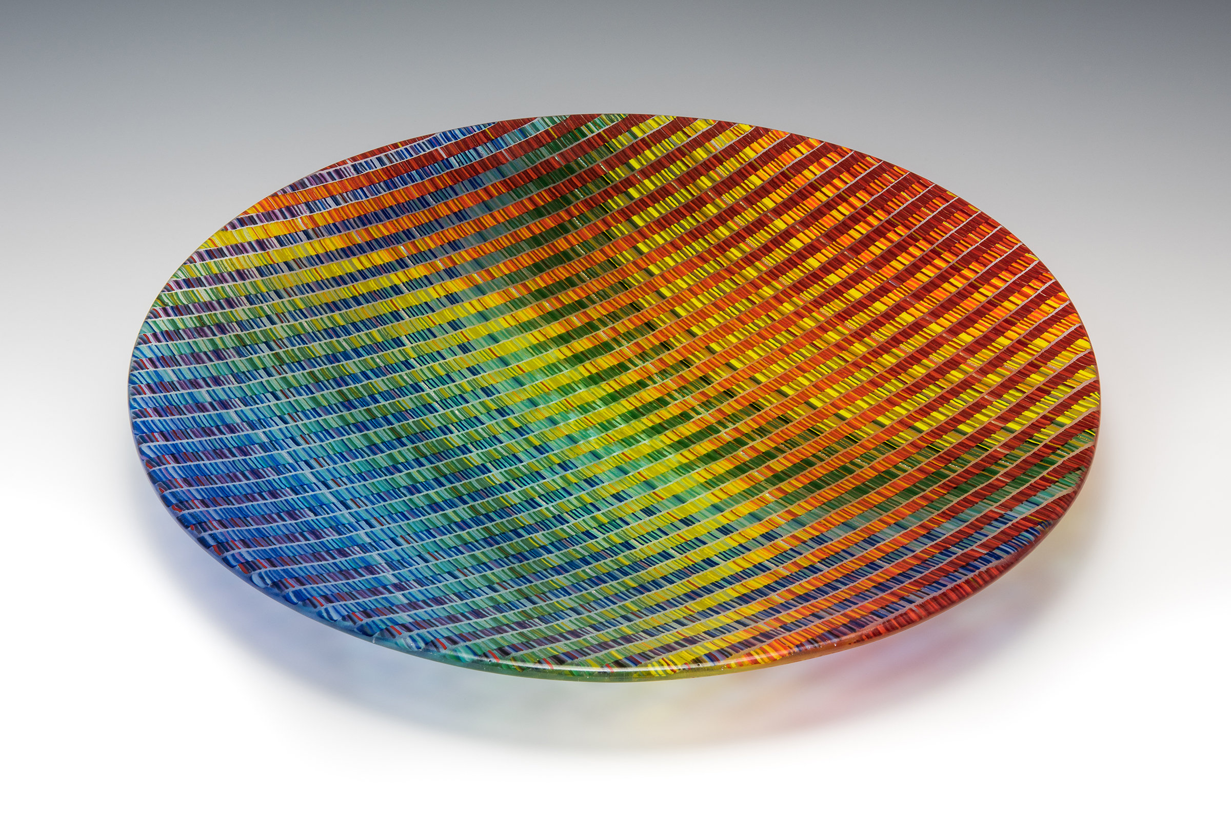 Prismatic Tapestry Bowl By Richard Parrish Art Glass Bowl