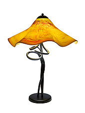 Tuscany Fluted Spiral Lamp by Joel and Candace  Bless (Art Glass Table Lamp)