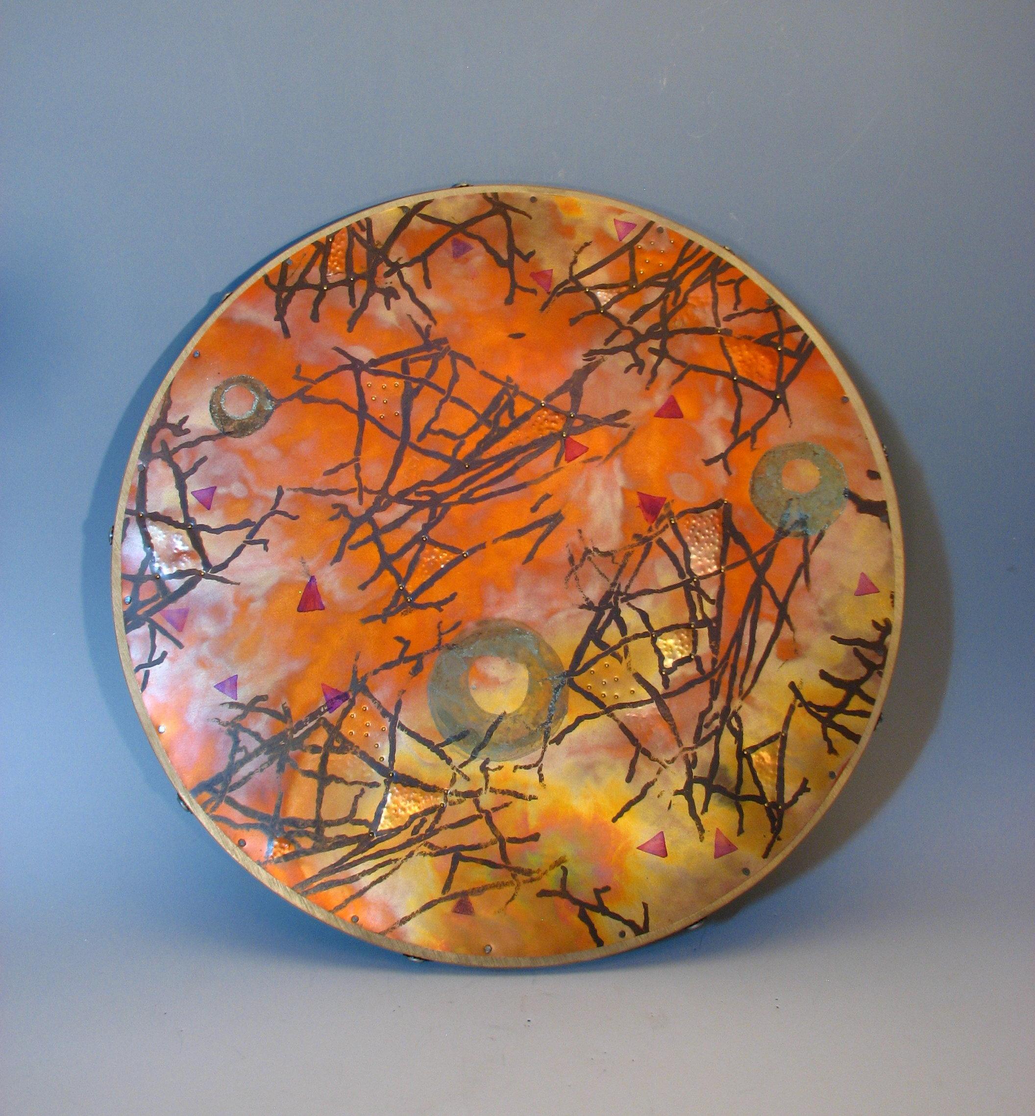 Copper Top Lazy Susan By Dale Jenssen Metal Serving Piece