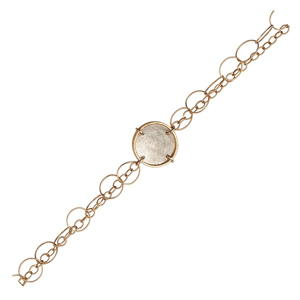 Sophie Silver Coin and Gold Chain Bracelet
