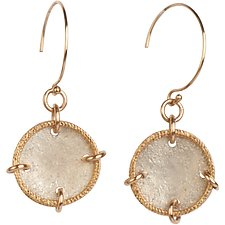 Sophie Silver Coin Earrings by Tracy Arrington (Gold & Silver Earrings)