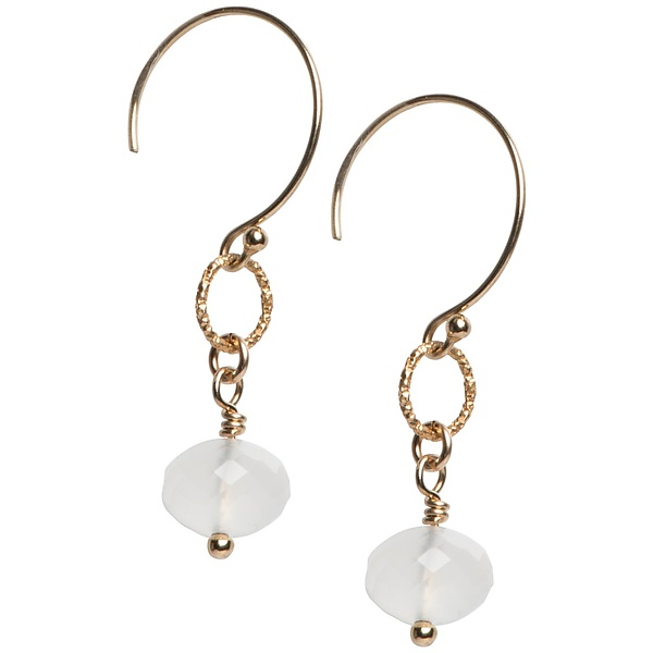 Sophie White Chalcedony Earrings