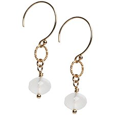 Sophie White Chalcedony Earrings by Tracy Arrington (Gold & Stone Earrings)
