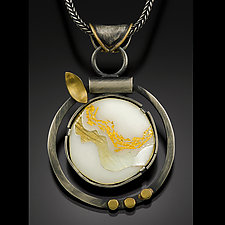 Flowing Honey Necklace by Jennifer Park (Enameled Necklace)