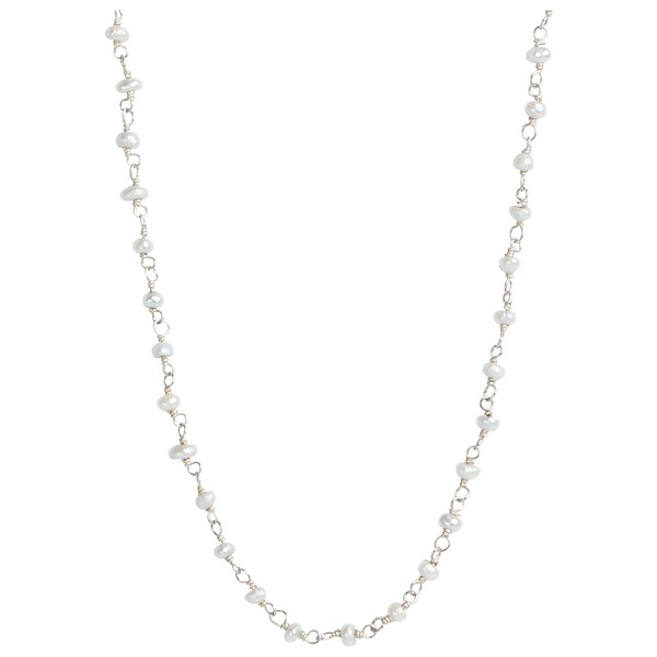 Madison Pearl & Sterling Silver Link Necklace