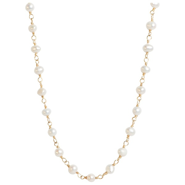 Madison Pearl & Gold Link Necklace
